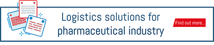 "Button to download the ""logistics solutions for pharmaceutical industry"" brochure"