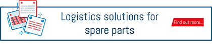 "Button to download the ""logistics solutions for spare parts"" brochure"