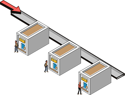 Automated lockers illustration