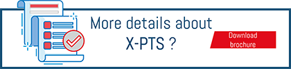 """Download buttom """"mare detail about X-PTS"""" goods-to-person solution by Savoye"""